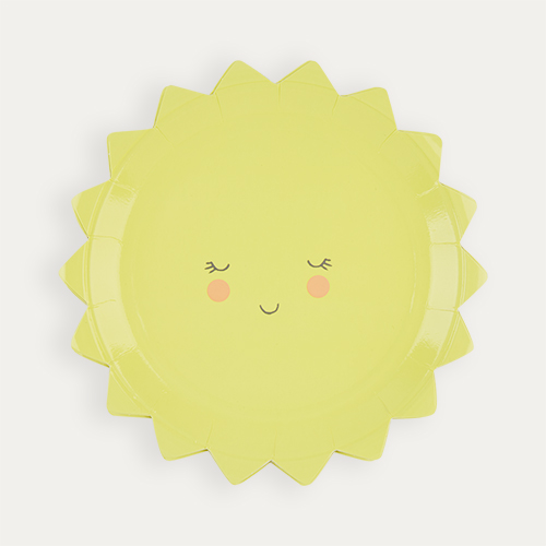 Yellow Meri Meri Small Sun Plates - 12 Pack