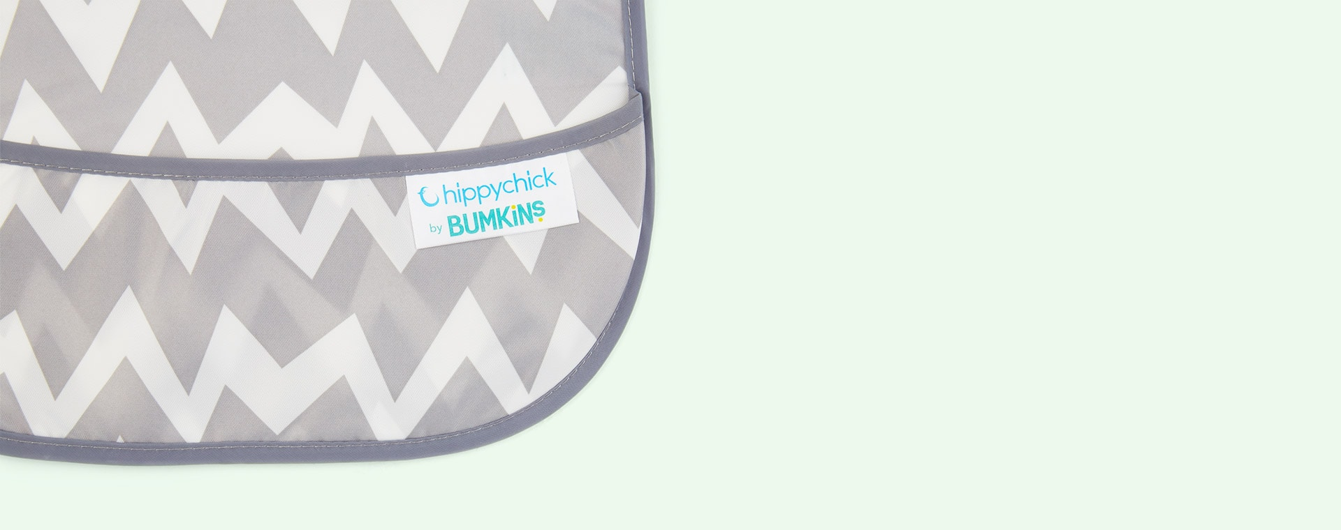 Grey Chevron Bumkins SuperBib