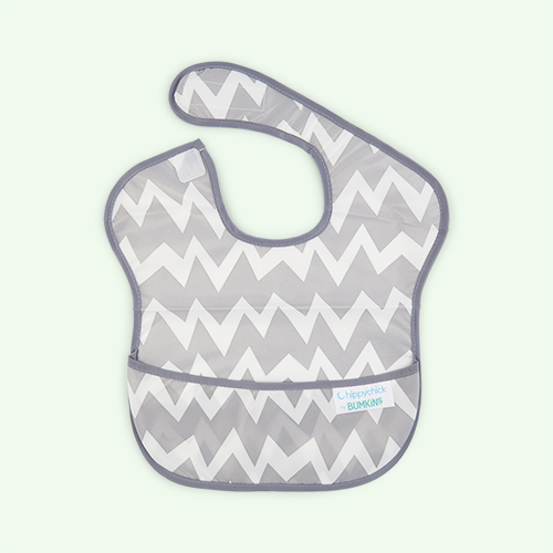 Grey Chevron Bumkins SuperBib