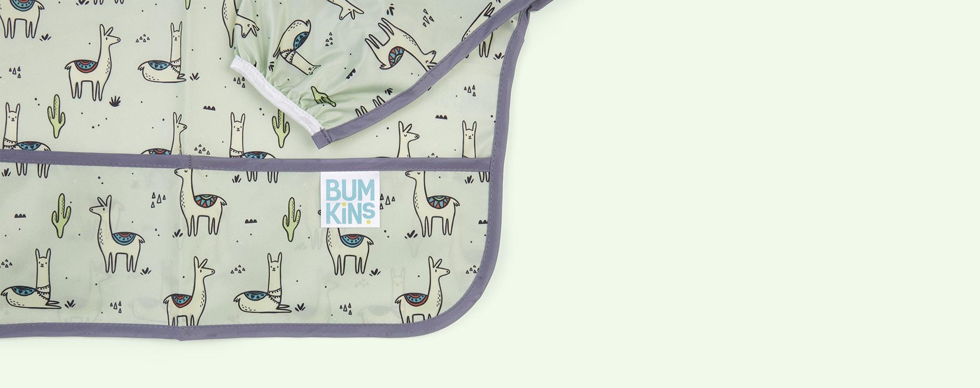 Llama Bumkins Sleeved Bib