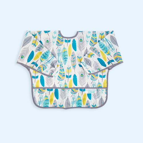 Feathers Bumkins Sleeved Bib