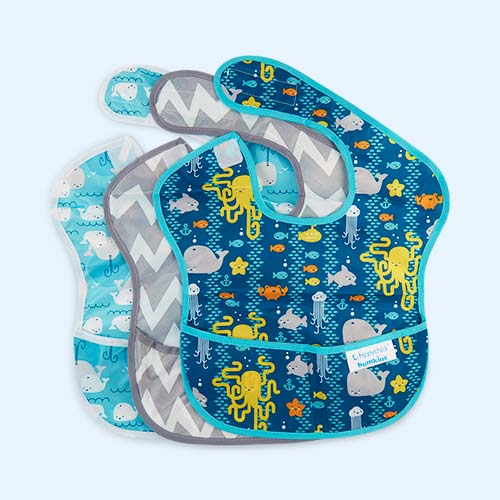 Sea Friends Bumkins SuperBibs - 3 Pack