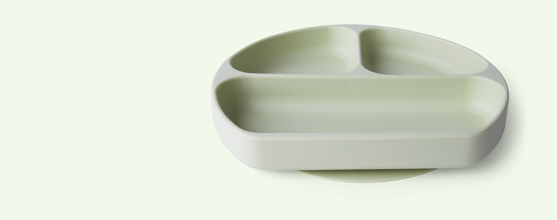 Sage Green Bumkins Silicone Suction Grip Dish
