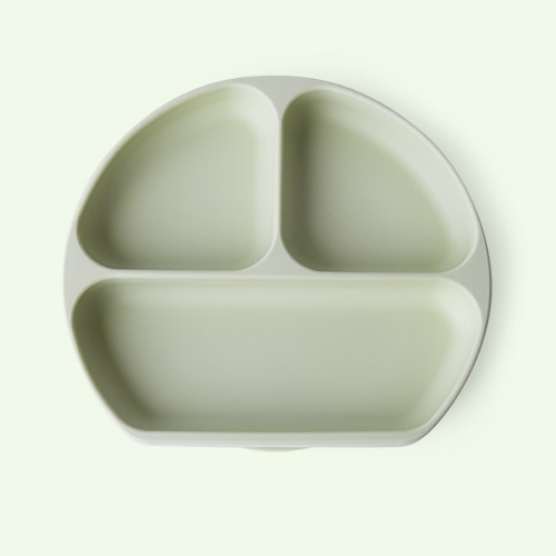Sage Green Bumkins Silicone Suction Grip Dish