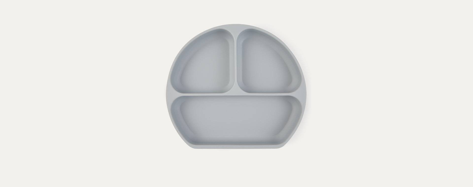 Grey Bumkins Silicone Suction Grip Dish
