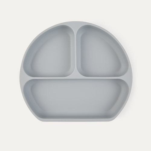 Grey Bumkins Silicone Suction Grip Dish