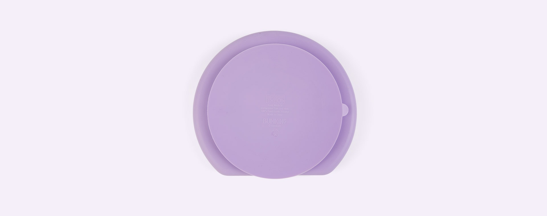 Lavender Bumkins Silicone Suction Grip Dish