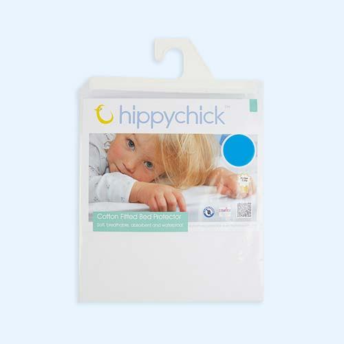 White Hippychick Cotton Flat Sheet Bed Protector