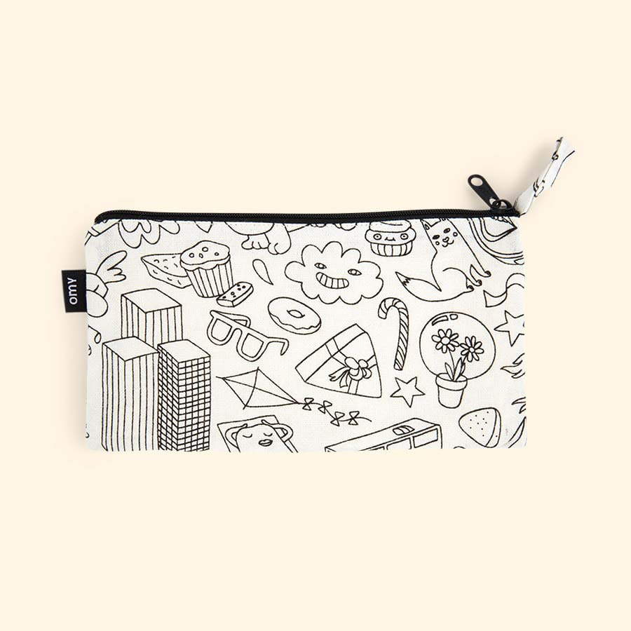 White OMY DESIGN & PLAY Colouring Pencil Case