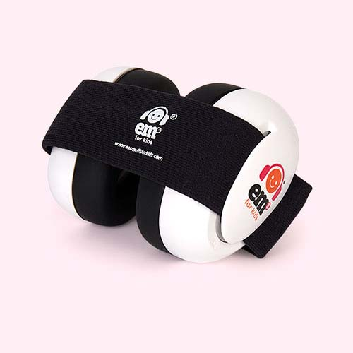 Black ems for kids Bubs Baby Ear Defenders