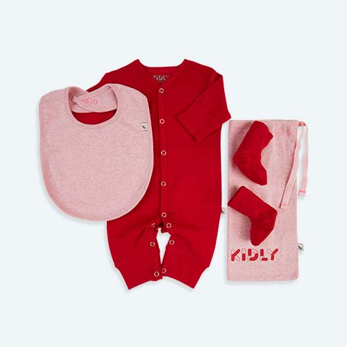 Pink KIDLY's Own New Baby All-In-One Set