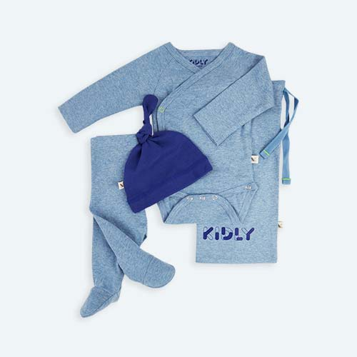 Blue KIDLY's Own New Baby Outfit Set