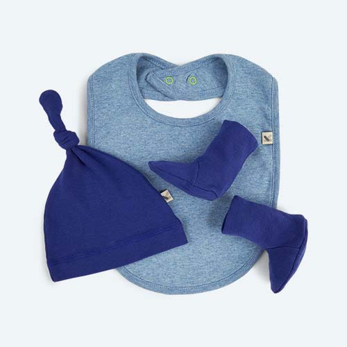 Blue KIDLY's Own New Baby Accessories Set