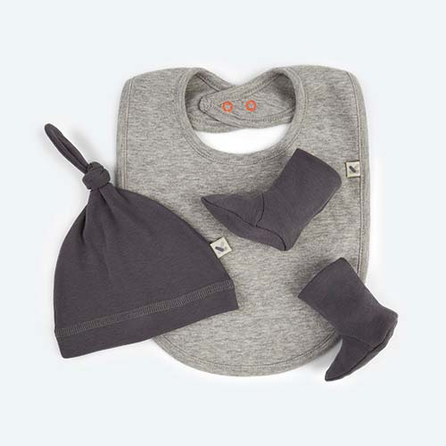 Grey KIDLY's Own New Baby Accessories Set