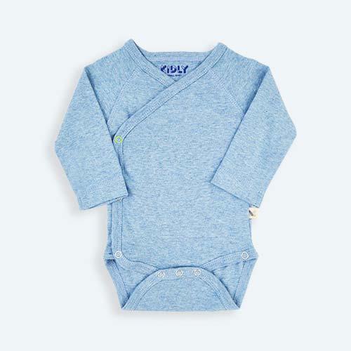 Blue KIDLY's Own New Baby Bodysuit