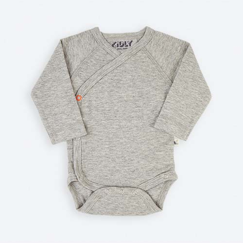 Grey KIDLY's Own New Baby Bodysuit