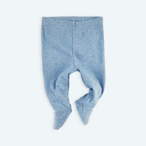 Blue KIDLY's Own New Baby Footed Legging