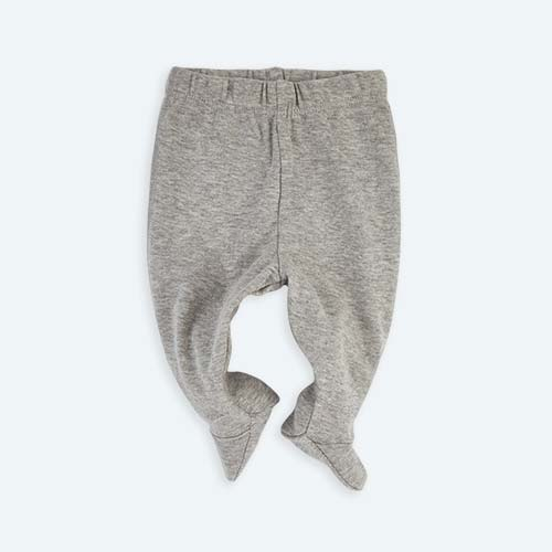 Grey KIDLY's Own New Baby Footed Legging