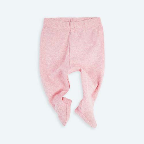 Pink KIDLY's Own New Baby Footed Legging