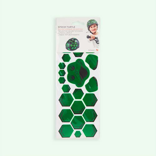 Green Donkey Reflective Helmet Stickers