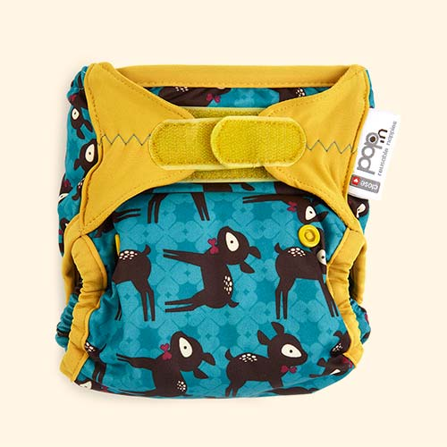 Deer Close New Pop-In Printed Nappy