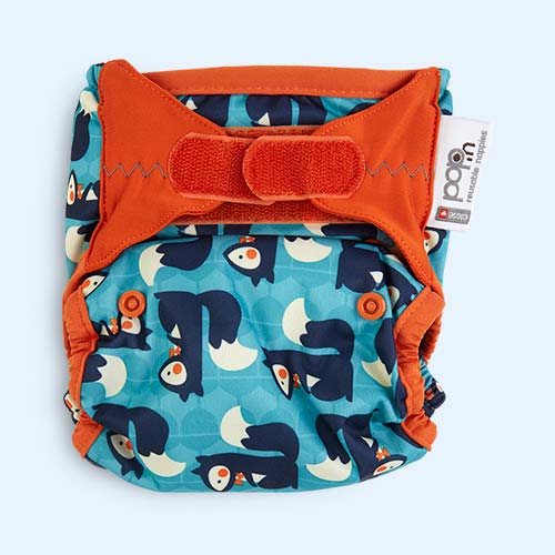 Squirrel Close New Pop-In Printed Nappy