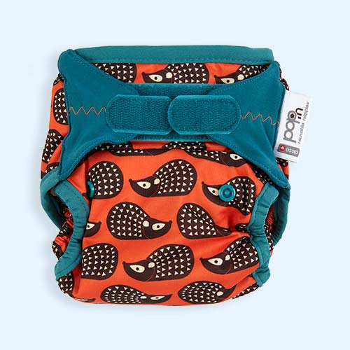 Hedgehog Close New Pop-In Printed Nappy