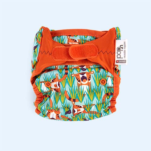Tiger Close New Pop-In Printed Nappy