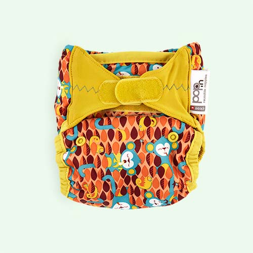 Monkey Close New Pop-In Printed Nappy