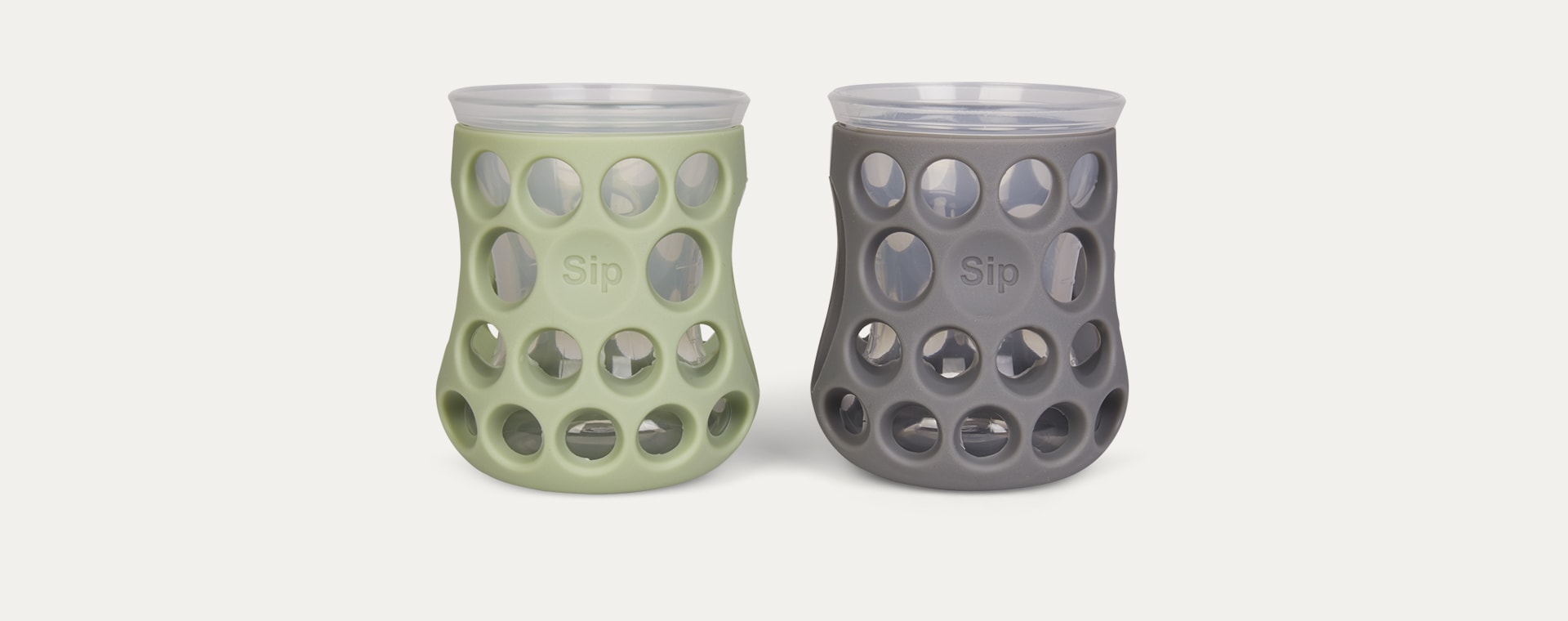 Slate Grey/Sage Green Cognikids Natural Drinking Cups - 2 Pack