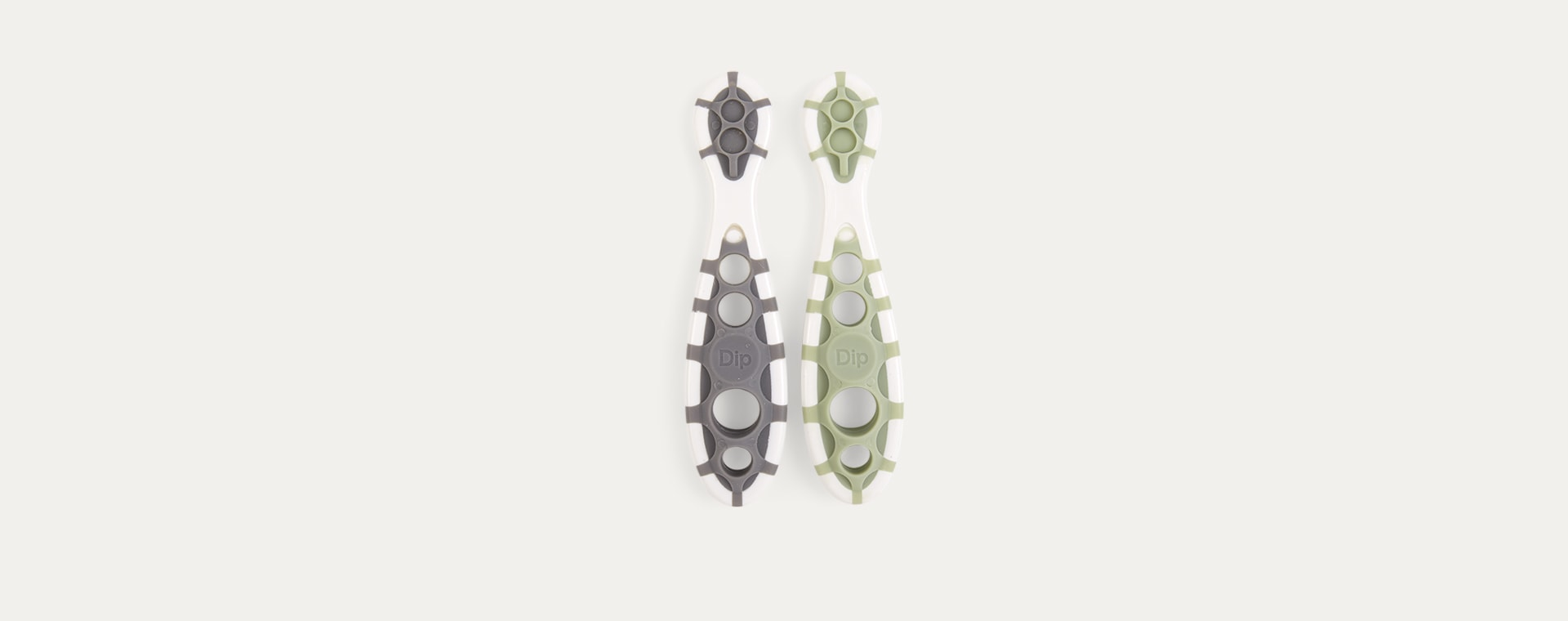 Slate Grey/Sage Green Cognikids 2-Pack Weaning Dip-Spoon