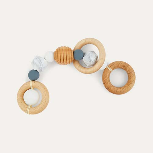 Grey Blossom & Bear Rattle Teether