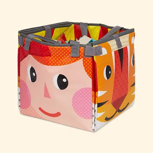 Multi Janod Kubix Play Cubes & Mat - 60 pieces