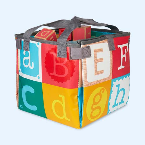 Multi Janod Kubix Play Cubes & Mat 40-Piece