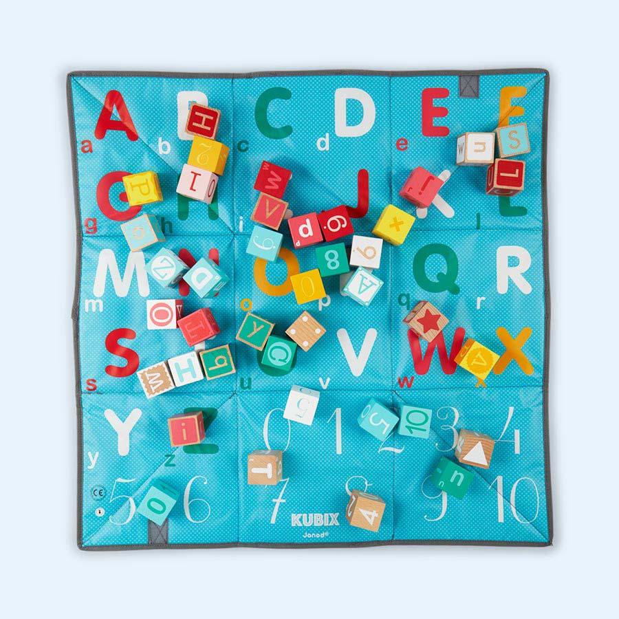 Multi Janod Kubix Play Cubes & Mat - 40 pieces
