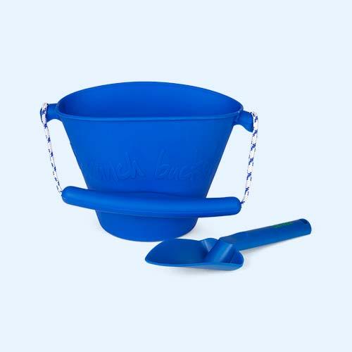 Blue Scrunch Collapsible Bucket & Spade Set