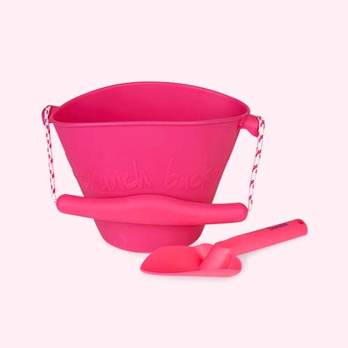 Pink Scrunch Collapsible Bucket & Spade Set
