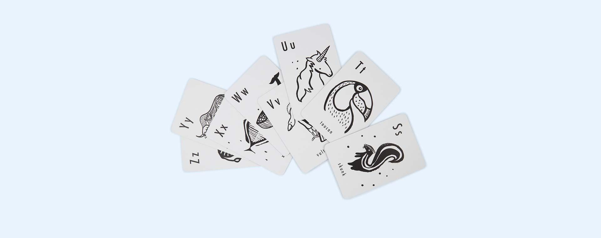 Black Wee Gallery Animal Alphabet Cards