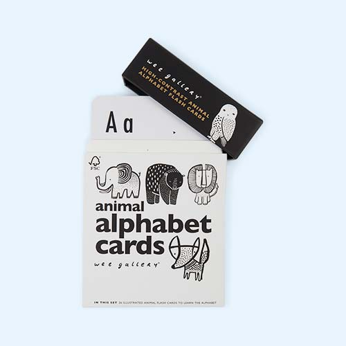 Black Wee Gallery Animal Alphabet Cards
