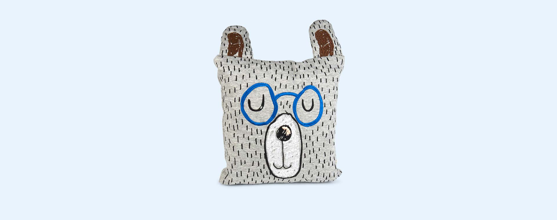 Grey Ferm Living Little Mr Teddy Cushion