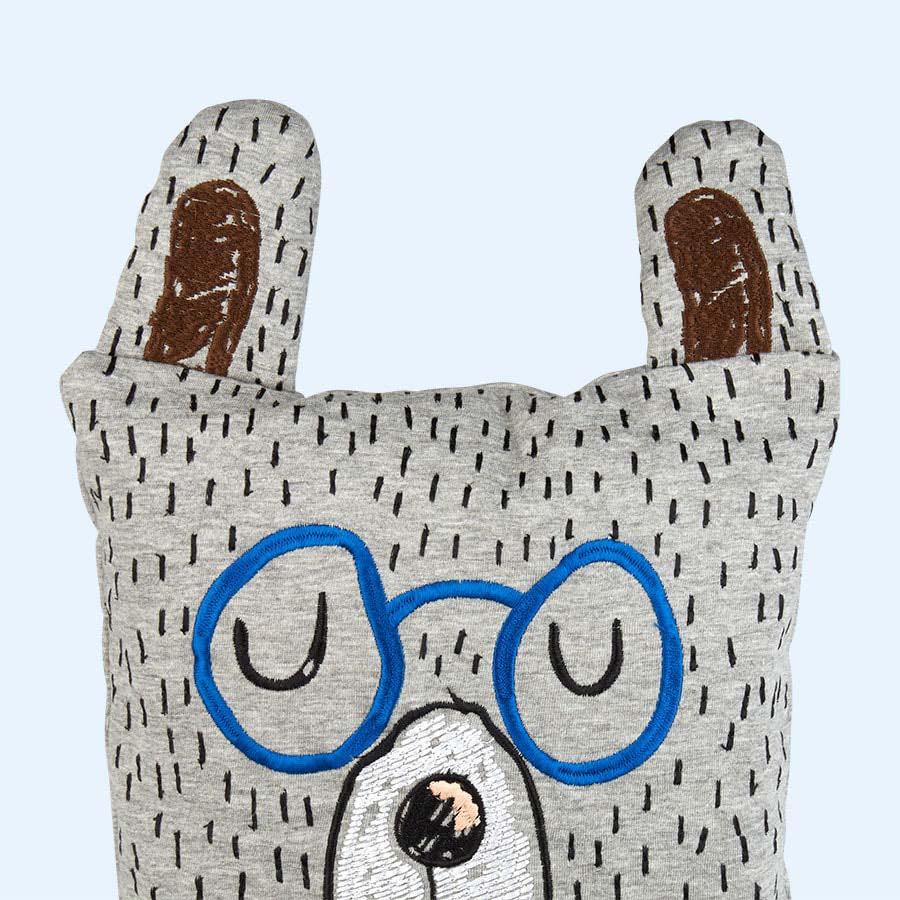 Grey Ferm Living Little Mr Teddy Cushion