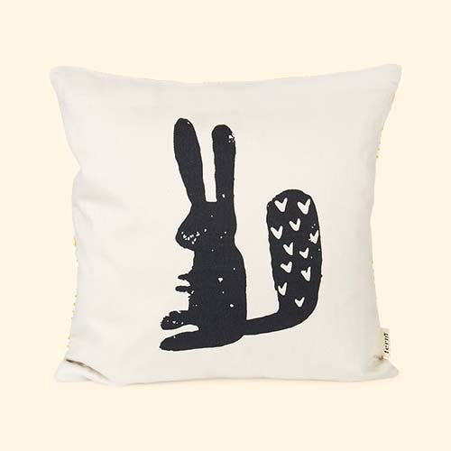 Neutral Ferm Living Rabbit Cushion
