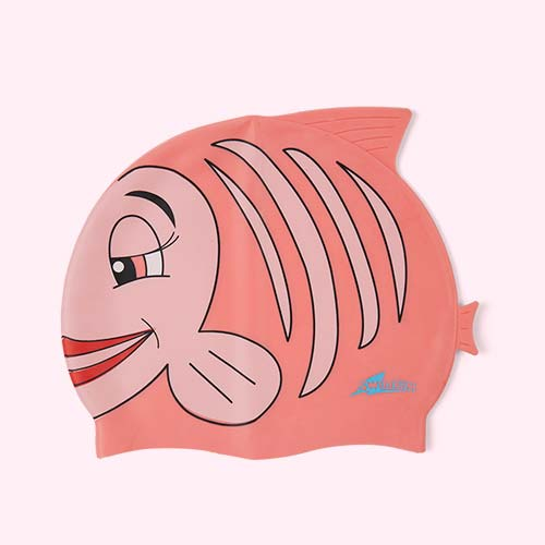 Pink SwimFin Novelty Swimming Cap