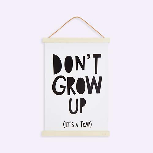 White Mini Learners Don't Grow Up Poster