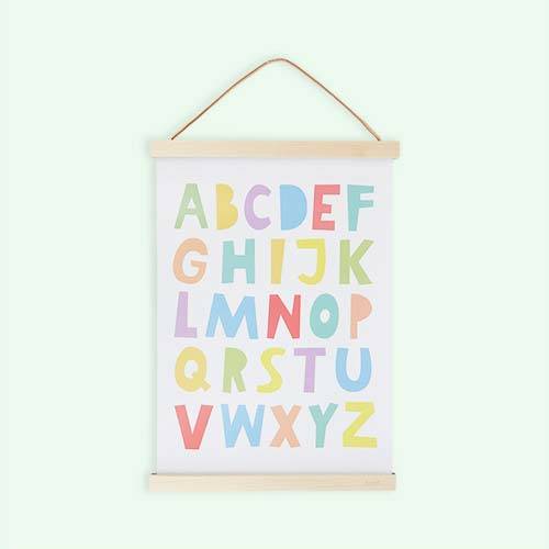 Multi Mini Learners Rainbow ABC Poster