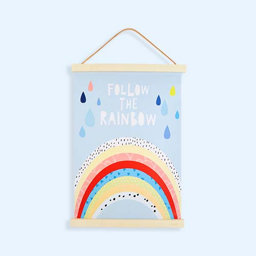 Blue Mini Learners Follow The Rainbow Poster