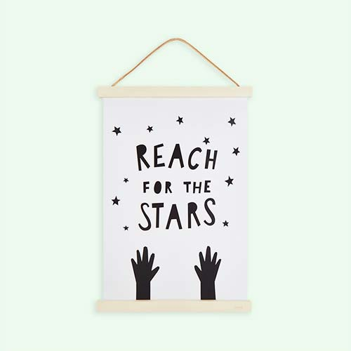 White Mini Learners Reach for the Stars Poster