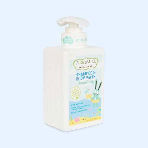 White JACK N' JILL Simplicity Shampoo & Body Wash