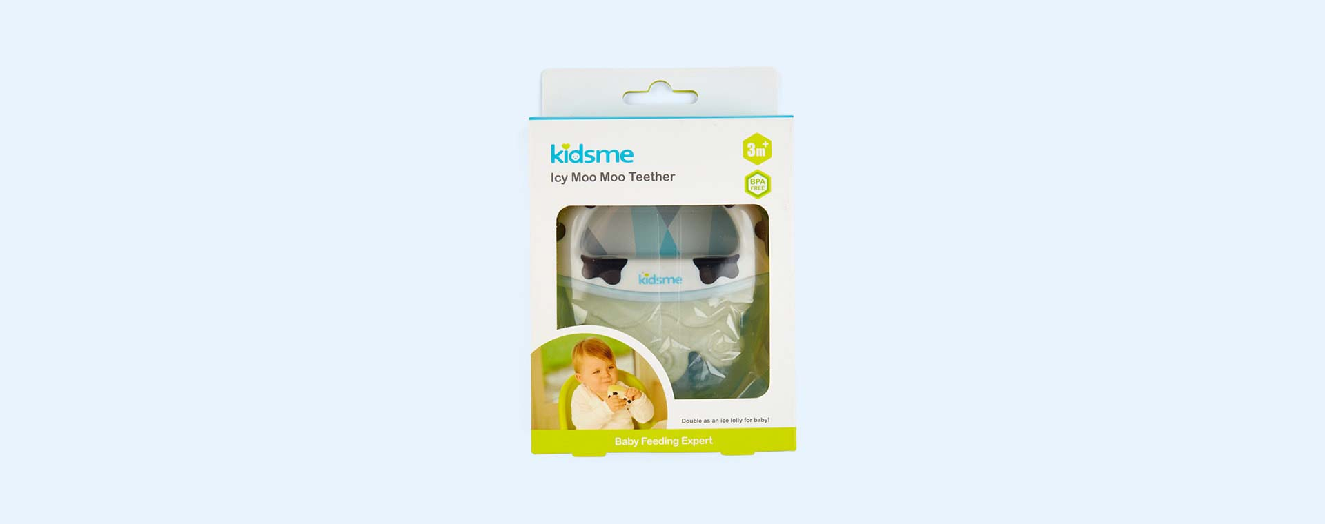 White kidsme Icy Moo Moo Teether