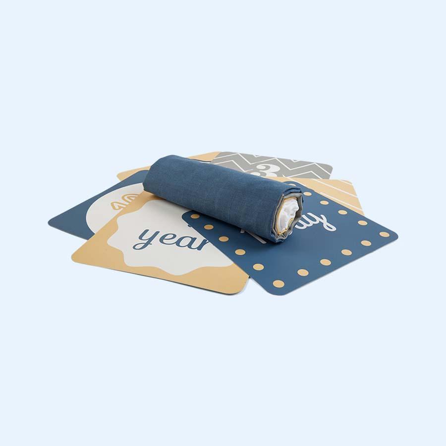 Mountains Lulujo Milestone Cards & Blanket Set